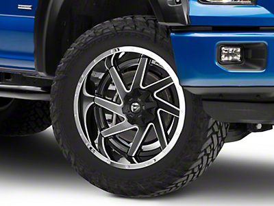 Fuel Wheels Renegade Black Milled w/ Chrome 6-Lug Wheel - 22x12 (04-18 F-150)