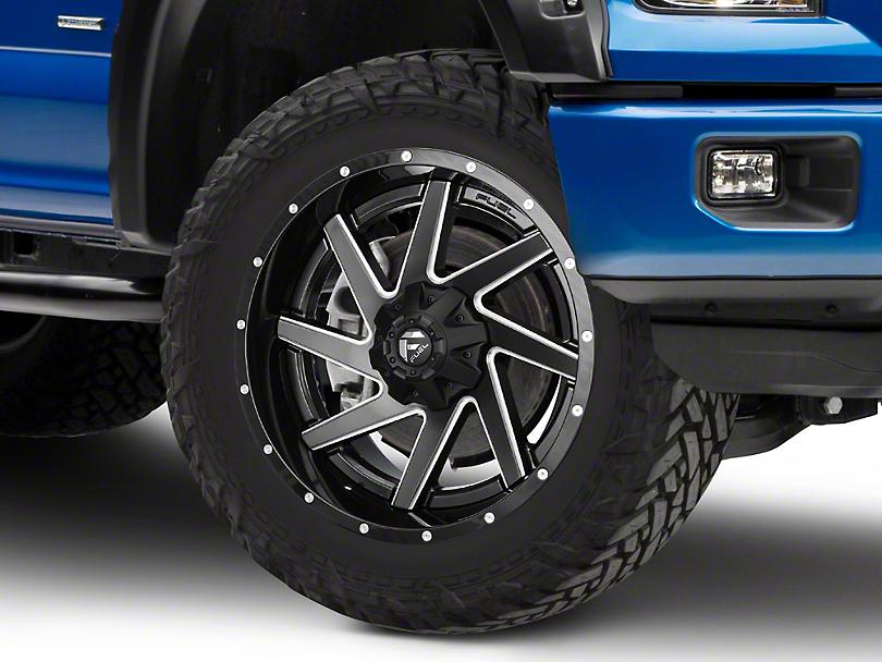Fuel Wheels Renegade Black Milled 6-Lug Wheel - 22x10 (04-18 F-150)