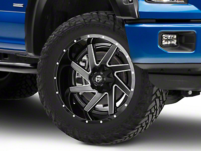 Fuel Wheels Renegade Black Milled 6-Lug Wheel - 22x12 (04-17 All)