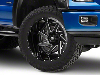 Fuel Wheels Renegade Black Milled 6-Lug Wheel - 22x14 (04-18 F-150)