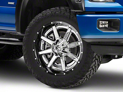 Fuel Wheels Maverick Chrome w/ Gloss Black Lip 6-Lug Wheel - 22x10 (04-18 F-150)