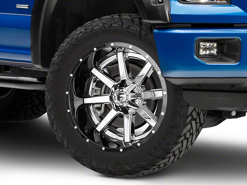 Fuel Wheels Maverick Chrome w/ Gloss Black Lip 6-Lug Wheel - 22x12 (04-17 All)