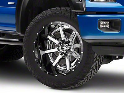 Fuel Wheels Maverick Chrome w/ Gloss Black Lip 6-Lug Wheel - 22x14 (04-17 All)