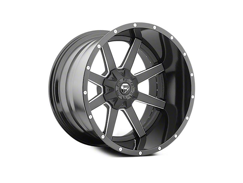 Fuel Wheels Maverick Black Milled 6-Lug Wheel - 22x12 (04-18 All)