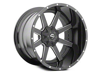 Fuel Wheels Maverick Black Milled 6-Lug Wheel - 22x14 (04-18 All)
