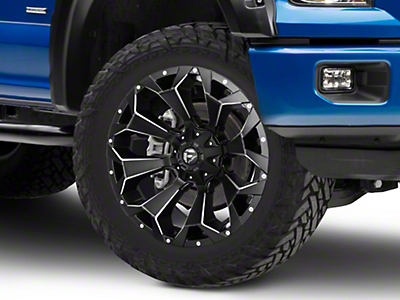 Fuel Wheels Assault Black Miled 6-Lug Wheel - 22x10 (04-18 All)