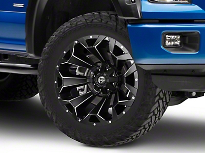 Fuel Wheels Assault Black Miled 6-Lug Wheel - 22x12 (04-18 All)