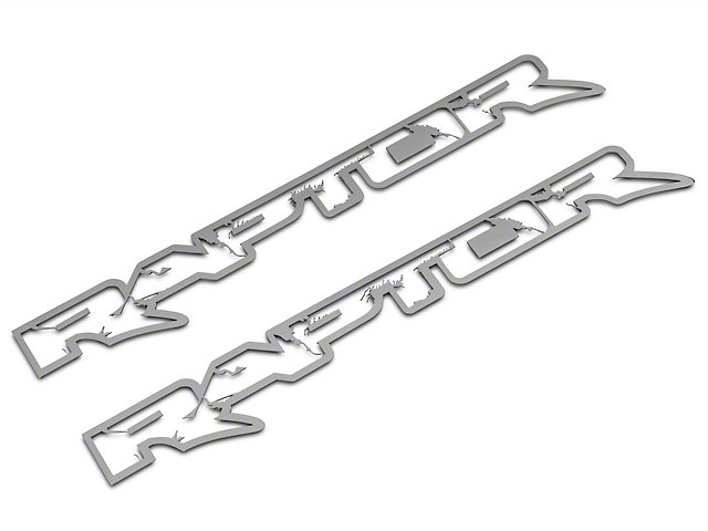 ACC Polished Frame Style Raptor Emblems (10-14 Raptor)