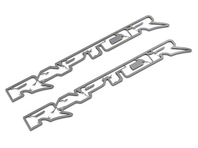 ACC Brushed Frame Style Raptor Emblems (10-14 Raptor)
