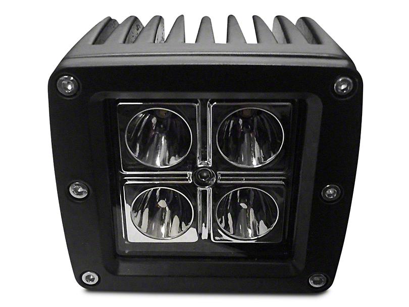 DV8 Off-Road 3 in. Chrome Series LED Cube Light - Spot Beam (97-18 All)