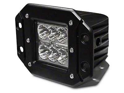 DV8 Off-Road 3 in. Chrome Series Flush Mount LED Cube Light - Spot Beam (97-18 All)