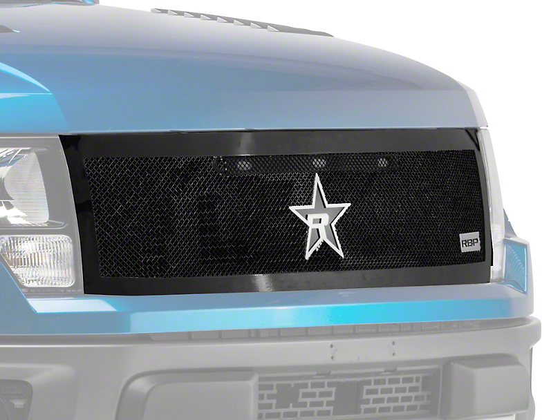 RBP RX-2 Series Smooth Frame Upper Replacement Grille - Black (10-14 Raptor)