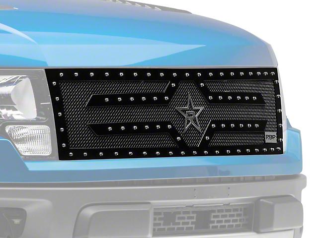 RBP RX-2 Series Studded Frame Upper Replacement Grille - Black (10-14 Raptor)