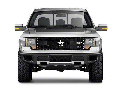 RBP RX-3 Series Studded Frame Upper Replacement Grille - Black (10-14 Raptor)
