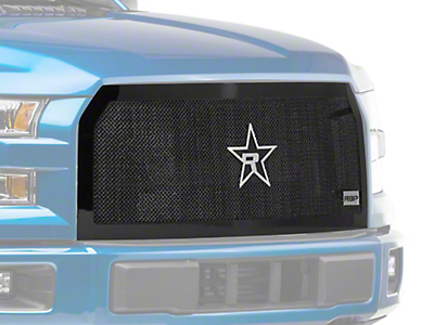 RBP RL Series Smooth Frame Upper Overlay Grille Insert - Black (15-17 XLT; 2017 XL w/ STX Package)