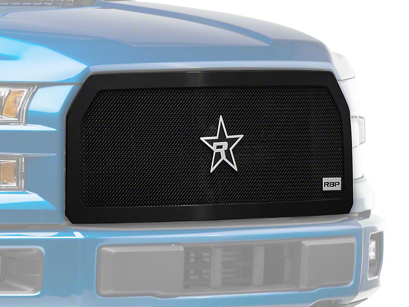 RBP RL Series Smooth Frame Upper Replacement Grille Insert - Black (15-17 F-150 XLT; 2017 F-150 XL w/ STX Package)