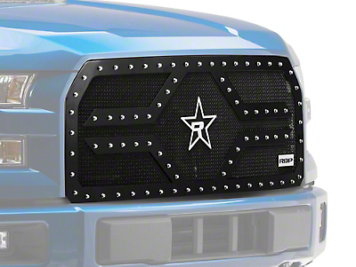 RBP RX-2 Series Studded Frame Upper Replacement Grille - Black (15-17 All, Excluding Raptor)