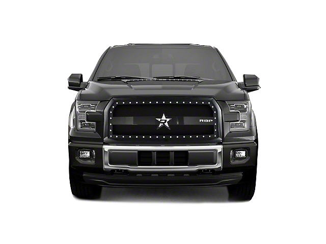 RBP RX-3 Series Studded Frame Upper Overlay Grille Insert - Black (15-17 XLT; 2017 XL w/ STX Package)