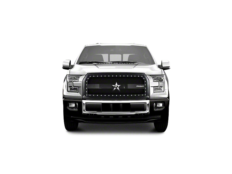 RBP RX-3 Series Studded Frame Upper Replacement Grille - Black (15-17 All, Excluding Raptor)