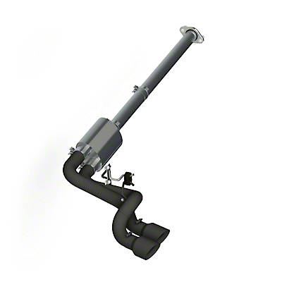 MBRP Black Series 3 in. Dual Exhaust System - Middle Side Exit (11-14 3.7L)