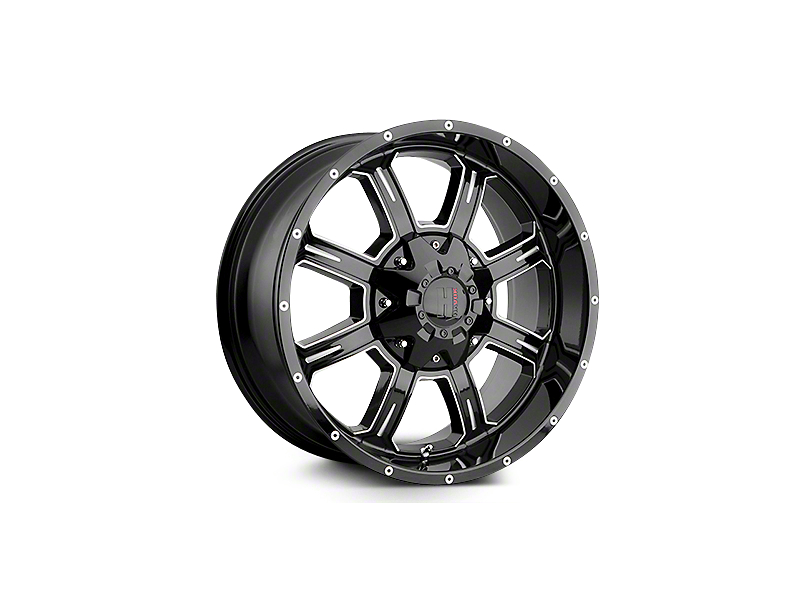 Havok Off-Road H101 Black Milled 6-Lug Wheel - 20x10 (04-18 F-150)