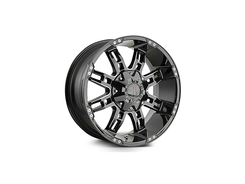Havok Off-Road H103 Black Milled 6-Lug Wheel - 22x11 (04-18 All)
