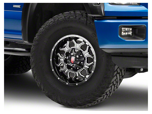 Havok Off-Road H106 Black Milled 6-Lug Wheel - 17x9 (04-18 All)