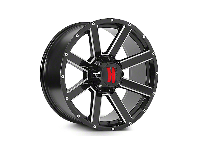 Havok Off-Road H107 Black Milled 6-Lug Wheel - 22x11 (04-18 All)