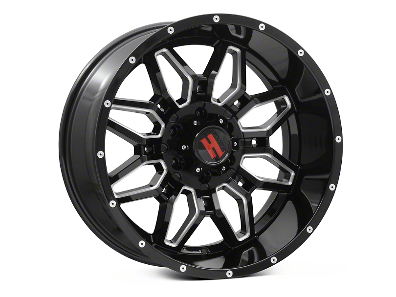 Havok Off-Road H109 Black Milled 6-Lug Wheel - 20x10 (04-18 F-150)