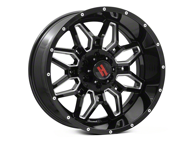 Havok Off-Road H109 Black Milled 6-Lug Wheel - 20x10 (04-18 All)