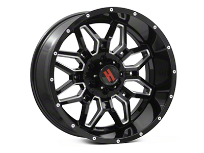 Havok Off-Road H109 Black Milled 6-Lug Wheel - 20x10 (04-17 All)