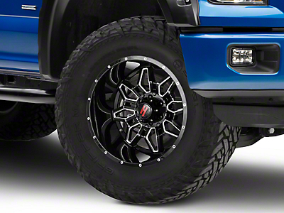Havok Off-Road H109 Black Milled 6-Lug Wheel - 20x12 (04-18 F-150)