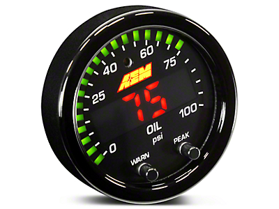 AEM Electronics X-Series Oil Pressure Gauge - Electrical (97-18 All)