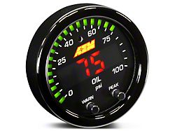 AEM Electronics X-Series Oil Pressure Gauge; Electrical (Universal; Some Adaptation May Be Required)