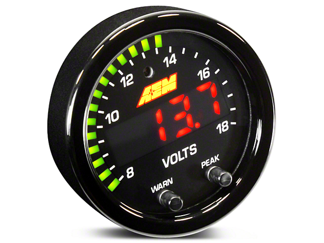 AEM Electronics X-Series Voltmeter Gauge - Electrical (97-17 All)