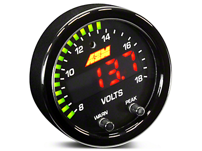 AEM Electronics X-Series Voltmeter Gauge - Electrical (97-18 All)