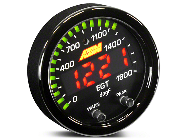 AEM Electronics X-Series Exhaust Temperature Gauge - Electrical (97-18 All)