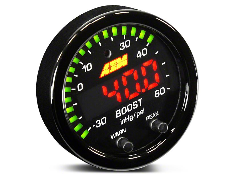 AEM Electronics X-Series Boost Pressure Gauge - Electrical (97-18 All)