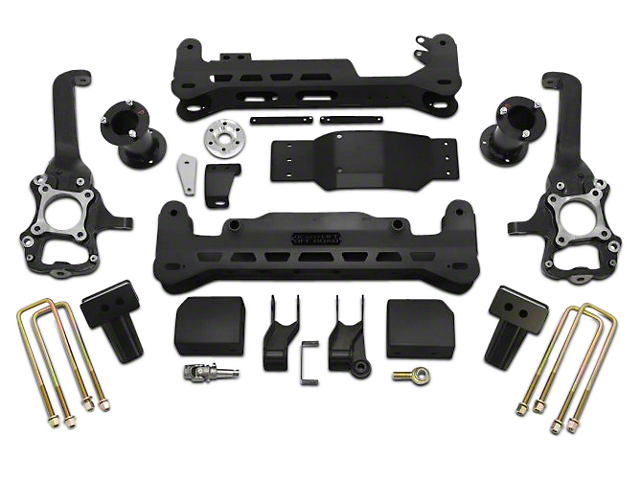 ReadyLIFT 7 in. Off Road Lift Kit w/o Shocks - Black (15-18 4WD, Excluding Raptor)