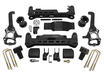 ReadyLIFT 7 in. Off Road Lift Kit w/o Shocks - Black (15-17 4WD, Excluding Raptor)