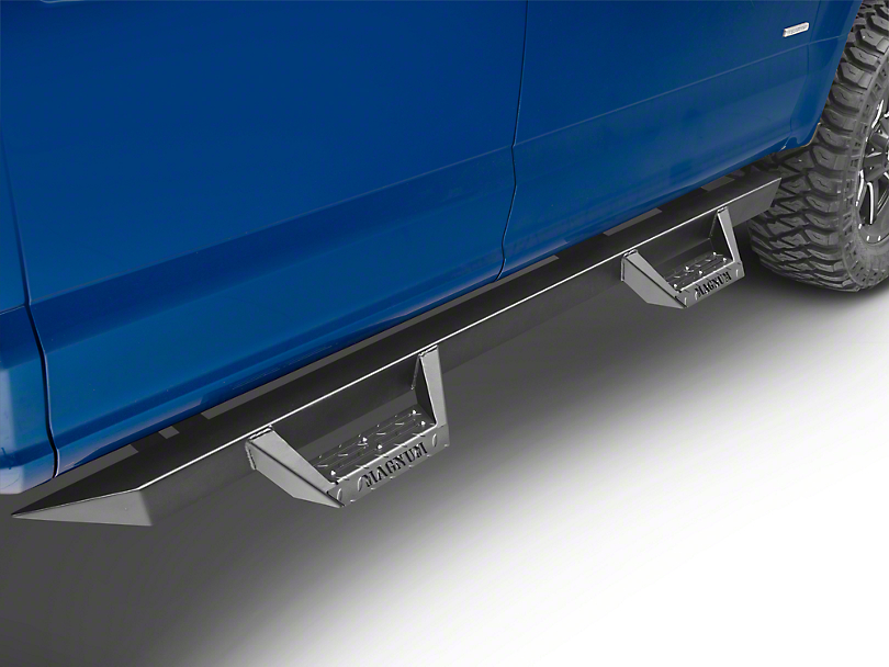 ICI Magnum RT Cab Length Side Step Bars - Black (15-17 SuperCab, SuperCrew)