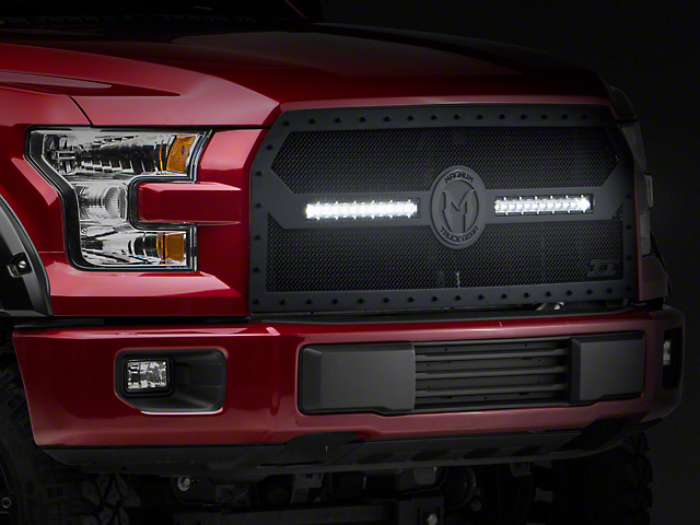 ICI Magnum BL-Series Upper Replacement Grille w/ 12 in. LED Light Bars - Black (15-17 F-150, Excluding Raptor)