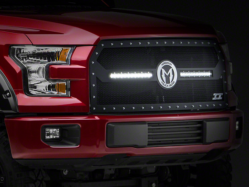 ICI Magnum CL-Series Upper Replacement Grille w/ 12 in. LED Light Bars - Black (15-17 All, Excluding Raptor)