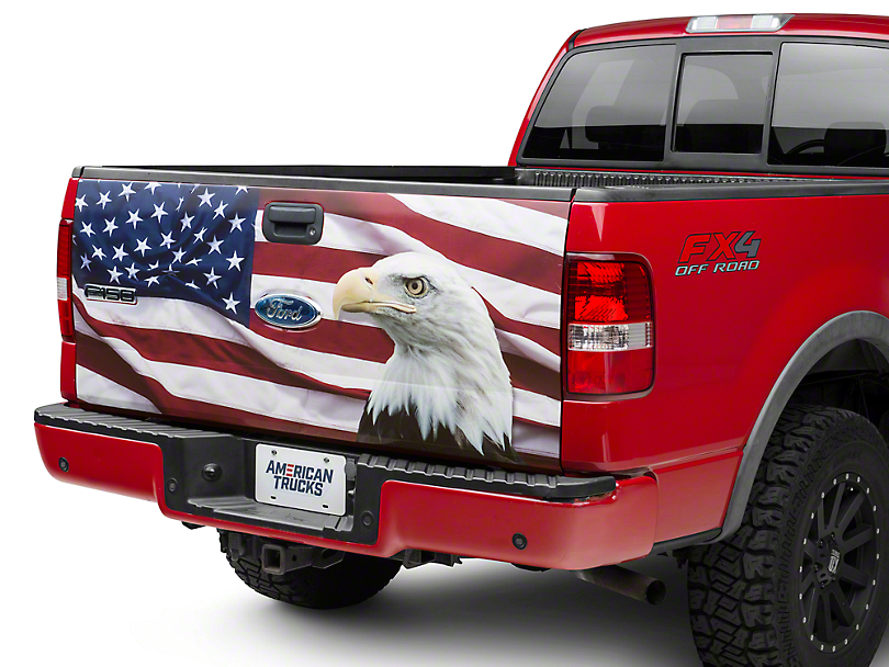 Flag & Eagle Tailgate Decal (97-14 F-150)