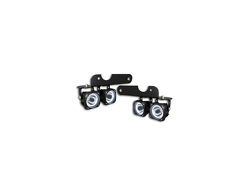 Vision X Optimus LED Fog Light Mounting Brackets (17-18 Raptor)
