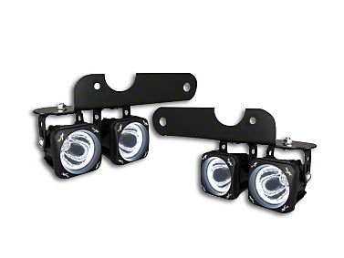 Vision X Optimus LED Fog Light Mounting Brackets (17-18 F-150 Raptor)