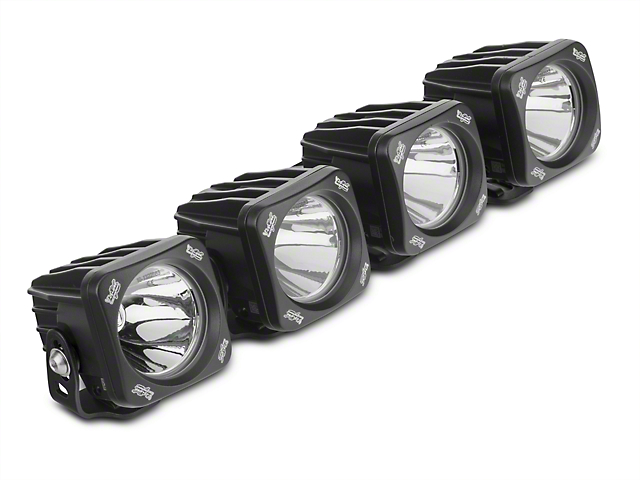 Vision X 3 in. Optimus LED Cube Fog Lights w/ Mounting Brackets (17-19 F-150 Raptor)
