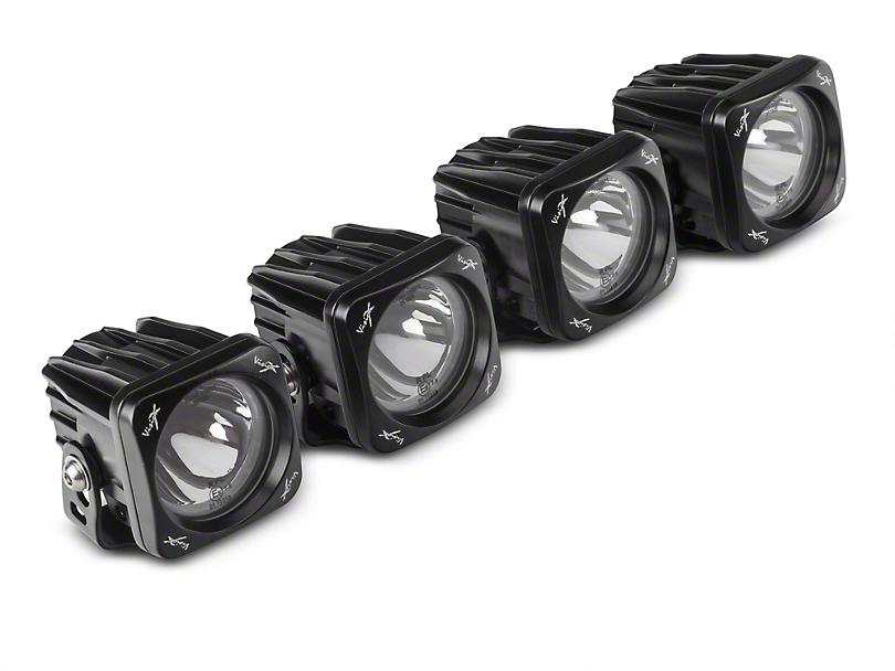 Vision X 3 in. Optimus Halo LED Cube Fog Lights w/ Mounting Brackets (17-18 Raptor)