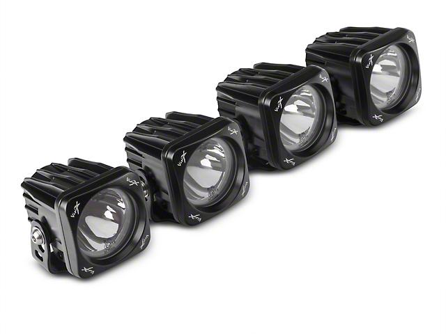 Vision X 3 in. Optimus Halo LED Cube Fog Lights w/ Mounting Brackets (17-18 F-150 Raptor)