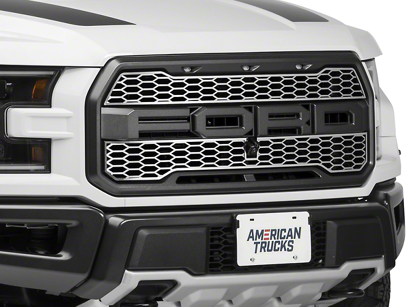 ACC Upper Overlay Grilles - Brushed (17-18 Raptor)
